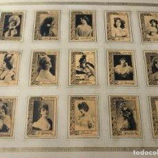 Cajas de Cerillas: 5 HOJAS FOTOTIPIAS DE CAJAS DE CERILLAS , MUY ANTIGÜAS . . Lote 154409942