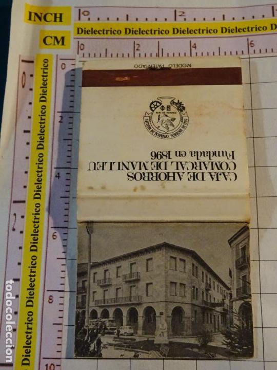 CAJA CAJETILLA DE CERILLAS DE BANCOS. CAJA DE AHORROS COMARCAL DE MANLLEU (Coleccionismo - Objetos para Fumar - Cajas de Cerillas)