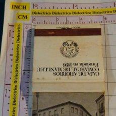 Cajas de Cerillas: CAJA CAJETILLA DE CERILLAS DE BANCOS. CAJA DE AHORROS COMARCAL DE MANLLEU. Lote 154444794