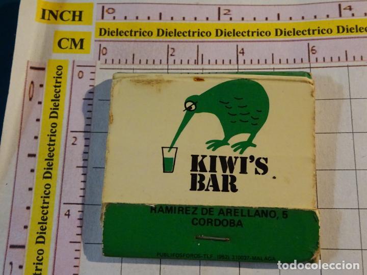 CAJA CAJETILLA DE CERILLAS DEL RESTAURANTE BAR KIWI'S BAR. CÓRDOBA (Coleccionismo - Objetos para Fumar - Cajas de Cerillas)