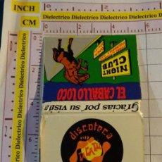 Cajas de Cerillas: CAJA CAJETILLA DE CERILLAS DE DISCOTECAS CLUBS PUBS DISCOTECA TACATU Y NIGHT CLUB CABALLO LOCO. Lote 154445526