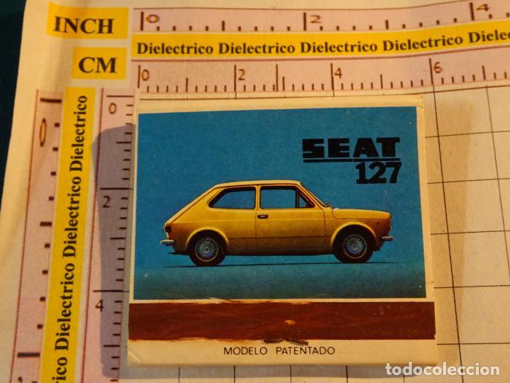 CAJA CAJETILLA DE CERILLAS DE COCHES MOTOS. SEAT 127 (Coleccionismo - Objetos para Fumar - Cajas de Cerillas)