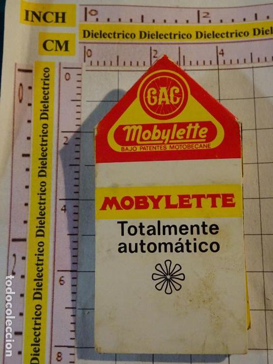 CAJA CAJETILLA DE CERILLAS DE COCHES MOTOS. GAC MOTO MOBYLETTE (Coleccionismo - Objetos para Fumar - Cajas de Cerillas)