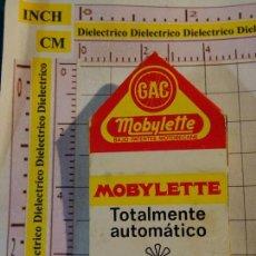 Cajas de Cerillas: CAJA CAJETILLA DE CERILLAS DE COCHES MOTOS. GAC MOTO MOBYLETTE. Lote 154445698