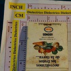 Cajas de Cerillas: CAJA CAJETILLA DE CERILLAS DE ABONOS ESSO. AMONIACO ESPAÑOL. Lote 154445754