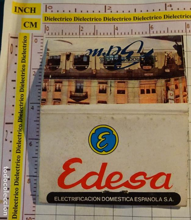 CAJA CAJETILLA DE CERILLAS DE EDESA ELECTRIFICACIÓN DOMÉSTICA ESPAÑOLA (Coleccionismo - Objetos para Fumar - Cajas de Cerillas)