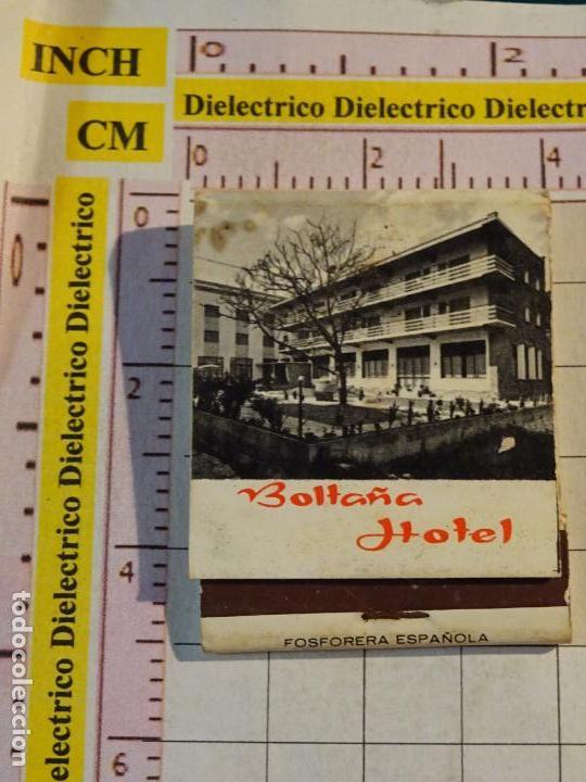 CAJA CAJETILLA DE CERILLAS DE BEBIDAS. HOTEL BOLTAÑA, HUESCA (Coleccionismo - Objetos para Fumar - Cajas de Cerillas)