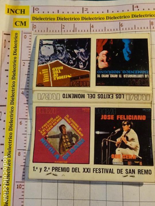 CAJA CAJETILLA DE CERILLAS DEL FESTIVAL DE SAN REMO MÚSICA CANCIÓN. NICOLA DI BARI, FELICIANO (Coleccionismo - Objetos para Fumar - Cajas de Cerillas)