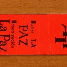 Cajas de Cerillas: HOTEL LA PAZ URBANIZACIÓN, PUERTO DE LA CRUZ, TENERIFE - CARTERÍTA DE CERILLAS - GENERAL FOSFORERA. Lote 154893190