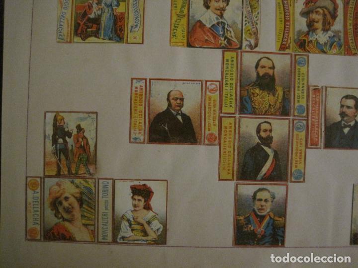 Cajas de Cerillas: CAJAS DE CERILLAS PEGADAS A HOJA-A.DELLACHA-MONCALIERI-TORINO-VER FOTOS-(CARPB-44) - Foto 4 - 155142906