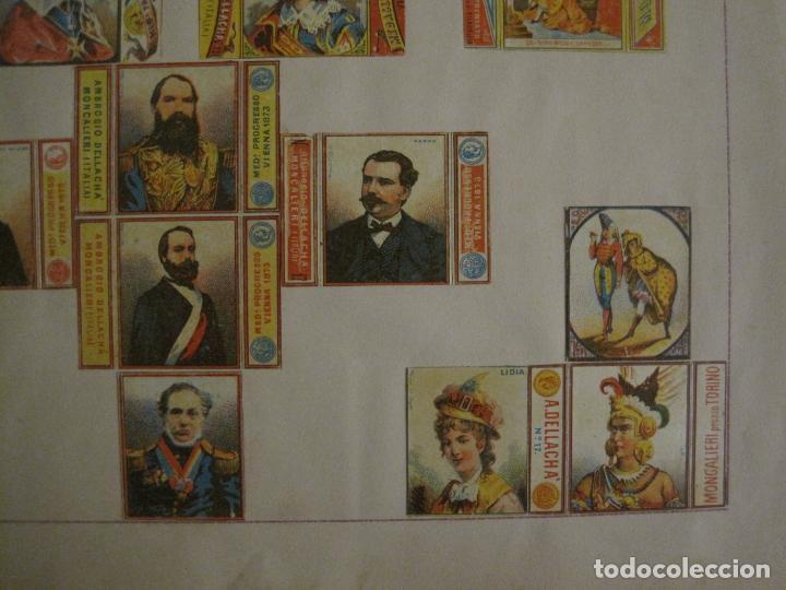 Cajas de Cerillas: CAJAS DE CERILLAS PEGADAS A HOJA-A.DELLACHA-MONCALIERI-TORINO-VER FOTOS-(CARPB-44) - Foto 5 - 155142906