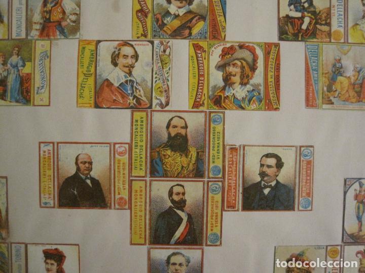 Cajas de Cerillas: CAJAS DE CERILLAS PEGADAS A HOJA-A.DELLACHA-MONCALIERI-TORINO-VER FOTOS-(CARPB-44) - Foto 6 - 155142906