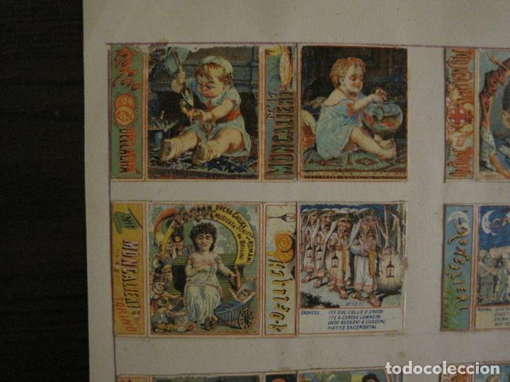 Cajas de Cerillas: CAJAS DE CERILLAS PEGADAS A HOJA-DELLACHA-MONCALIERI-TORINO-VER FOTOS-(CARPB-49) - Foto 2 - 155144438