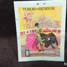 Cajas de Cerillas: ANTIGUA CAJA DE CERILLAS TOROS DE BURGOS - BANCO DE BILBAO AÑO 1968. Lote 155344290
