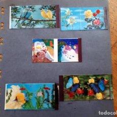 Cajas de Cerillas: 4 CAJAS DE CERILLAS TOP ESTEREO Y UNA QUE CAMBIA LA IMAGEN. Lote 155490874