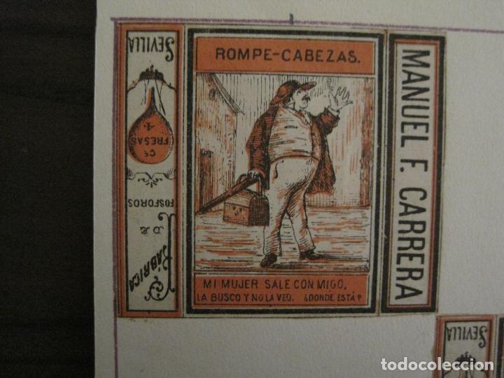 Cajas de Cerillas: CAJAS DE CERILLAS PEGADAS A HOJA-ESPAÑA-M.F. CABRERA SEVILLA & LIZARBE TARAZONA-VER FOTOS-(CARPB-57) - Foto 2 - 155667406