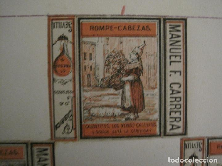 Cajas de Cerillas: CAJAS DE CERILLAS PEGADAS A HOJA-ESPAÑA-M.F. CABRERA SEVILLA & LIZARBE TARAZONA-VER FOTOS-(CARPB-57) - Foto 3 - 155667406