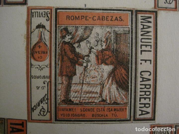 Cajas de Cerillas: CAJAS DE CERILLAS PEGADAS A HOJA-ESPAÑA-M.F. CABRERA SEVILLA & LIZARBE TARAZONA-VER FOTOS-(CARPB-57) - Foto 5 - 155667406