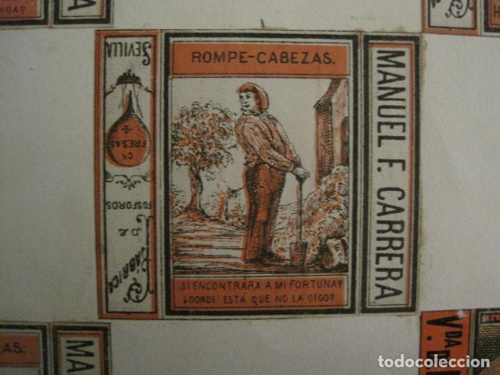 Cajas de Cerillas: CAJAS DE CERILLAS PEGADAS A HOJA-ESPAÑA-M.F. CABRERA SEVILLA & LIZARBE TARAZONA-VER FOTOS-(CARPB-57) - Foto 6 - 155667406