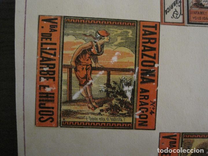 Cajas de Cerillas: CAJAS DE CERILLAS PEGADAS A HOJA-ESPAÑA-M.F. CABRERA SEVILLA & LIZARBE TARAZONA-VER FOTOS-(CARPB-57) - Foto 7 - 155667406