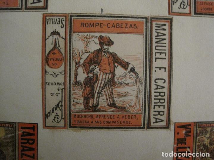 Cajas de Cerillas: CAJAS DE CERILLAS PEGADAS A HOJA-ESPAÑA-M.F. CABRERA SEVILLA & LIZARBE TARAZONA-VER FOTOS-(CARPB-57) - Foto 8 - 155667406