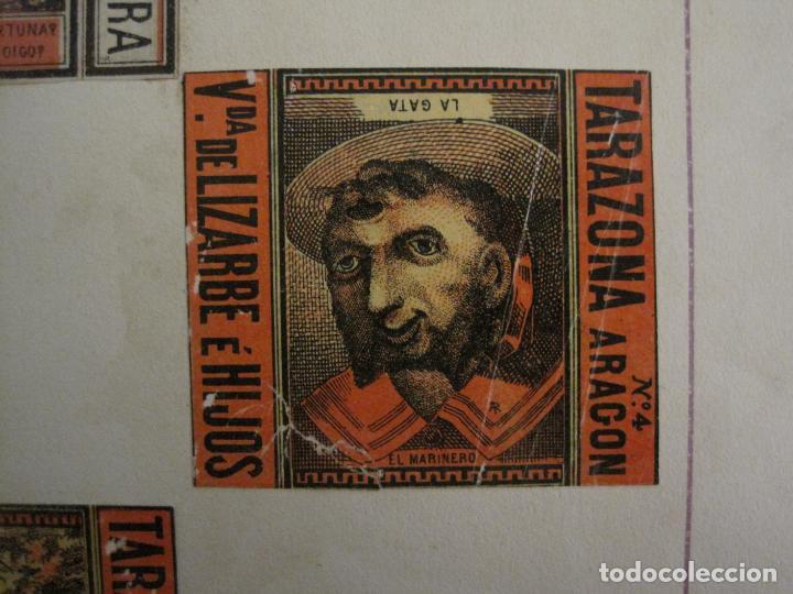 Cajas de Cerillas: CAJAS DE CERILLAS PEGADAS A HOJA-ESPAÑA-M.F. CABRERA SEVILLA & LIZARBE TARAZONA-VER FOTOS-(CARPB-57) - Foto 9 - 155667406