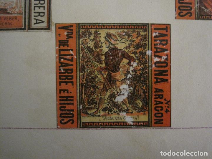 Cajas de Cerillas: CAJAS DE CERILLAS PEGADAS A HOJA-ESPAÑA-M.F. CABRERA SEVILLA & LIZARBE TARAZONA-VER FOTOS-(CARPB-57) - Foto 11 - 155667406