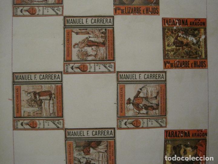 Cajas de Cerillas: CAJAS DE CERILLAS PEGADAS A HOJA-ESPAÑA-M.F. CABRERA SEVILLA & LIZARBE TARAZONA-VER FOTOS-(CARPB-57) - Foto 13 - 155667406