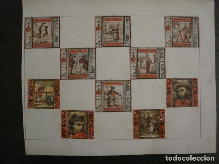 Cajas de Cerillas: CAJAS DE CERILLAS PEGADAS A HOJA-ESPAÑA-M.F. CABRERA SEVILLA & LIZARBE TARAZONA-VER FOTOS-(CARPB-57) - Foto 15 - 155667406