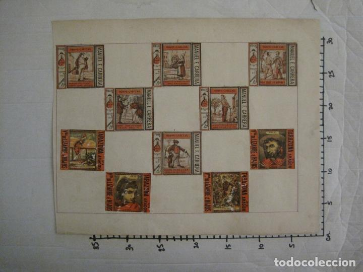 Cajas de Cerillas: CAJAS DE CERILLAS PEGADAS A HOJA-ESPAÑA-M.F. CABRERA SEVILLA & LIZARBE TARAZONA-VER FOTOS-(CARPB-57) - Foto 17 - 155667406