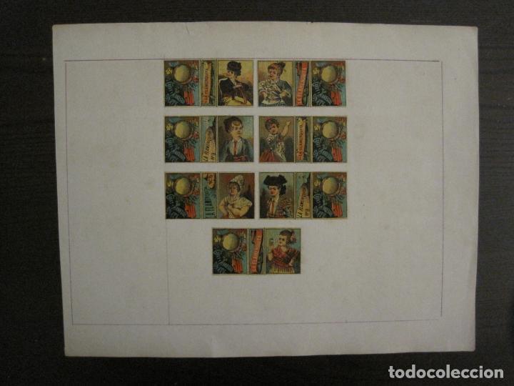 CAJAS DE CERILLAS PEGADAS A HOJA-ESPAÑA-GARAY Y ARREGUI-OÑATE-VER FOTOS-(CARPB-58) (Coleccionismo - Objetos para Fumar - Cajas de Cerillas)