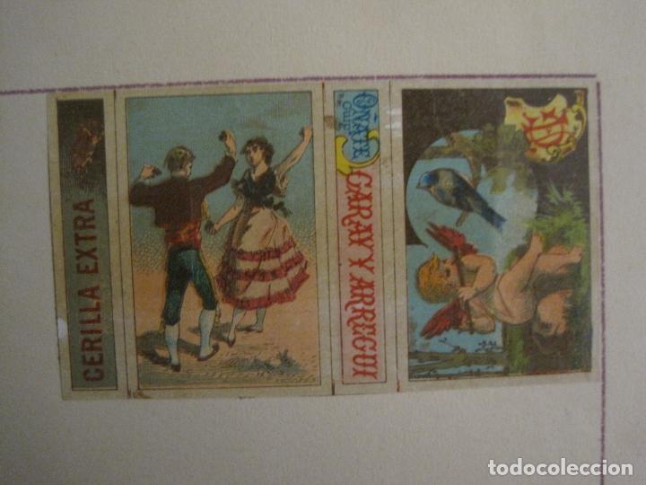 Cajas de Cerillas: CAJAS DE CERILLAS PEGADAS A HOJA-ESPAÑA-GARAY Y ARREGUI-OÑATE-VER FOTOS-(CARPB-59) - Foto 4 - 155668726