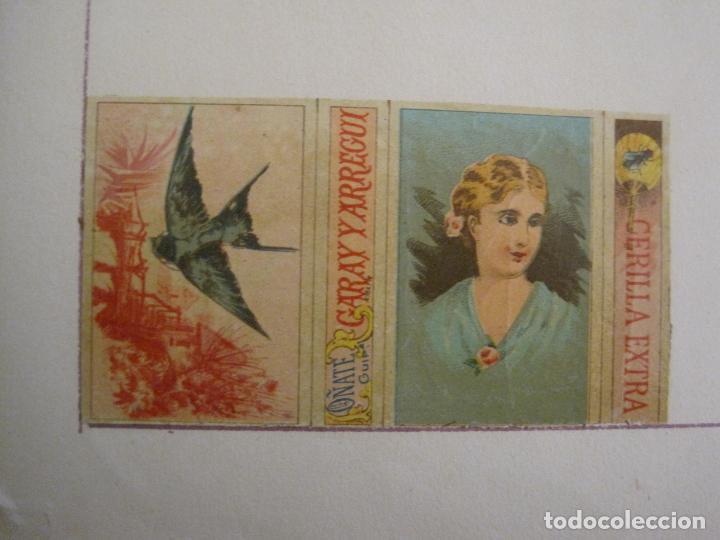 Cajas de Cerillas: CAJAS DE CERILLAS PEGADAS A HOJA-ESPAÑA-GARAY Y ARREGUI-OÑATE-VER FOTOS-(CARPB-59) - Foto 5 - 155668726
