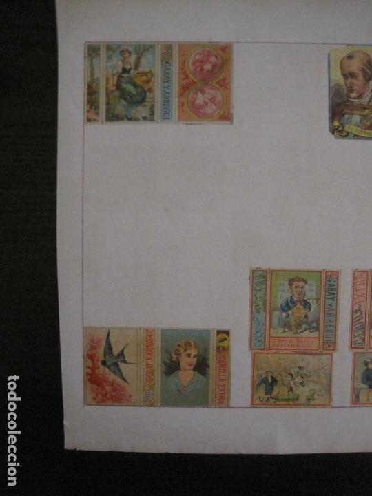 Cajas de Cerillas: CAJAS DE CERILLAS PEGADAS A HOJA-ESPAÑA-GARAY Y ARREGUI-OÑATE-VER FOTOS-(CARPB-59) - Foto 10 - 155668726