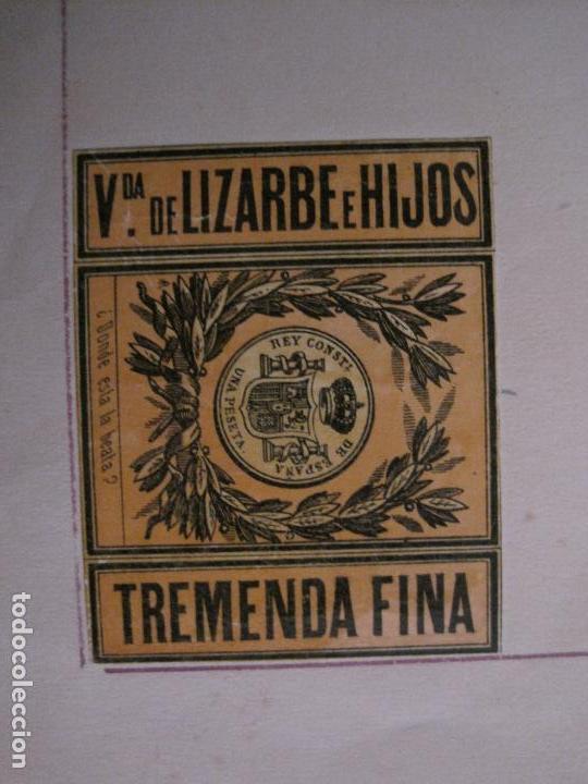 Cajas de Cerillas: CAJAS DE CERILLAS PEGADAS A HOJA-ESPAÑA-VDA LIZARBE E HIJOS-TARAZONA-VER FOTOS-(CARPB-62) - Foto 8 - 155669946