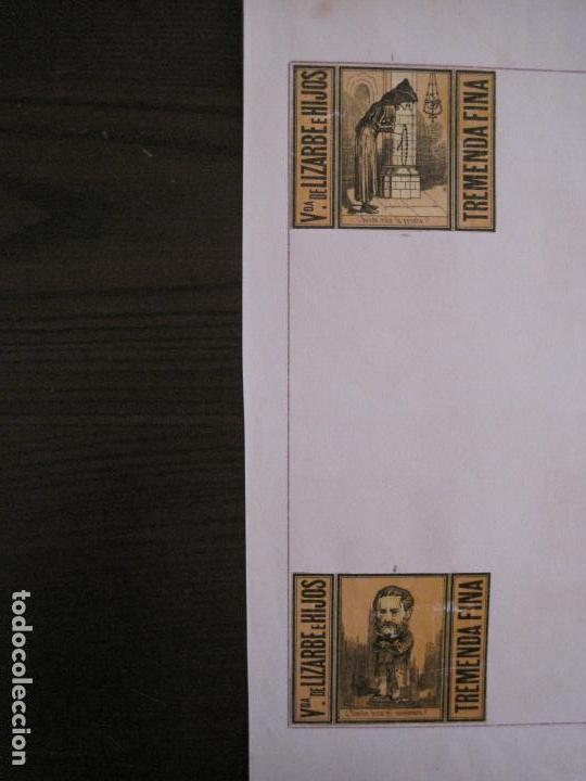 Cajas de Cerillas: CAJAS DE CERILLAS PEGADAS A HOJA-ESPAÑA-VDA LIZARBE E HIJOS-TARAZONA-VER FOTOS-(CARPB-62) - Foto 9 - 155669946