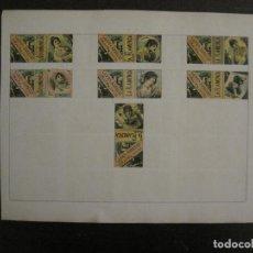 Cajas de Cerillas: CAJAS DE CERILLAS PEGADAS A HOJA-ESPAÑA-GARAY Y ARREGUI-OÑATE-VER FOTOS-(CARPB-63). Lote 155670226