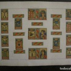 Cajas de Cerillas: CAJAS DE CERILLAS PEGADAS A HOJA-ESPAÑA-VDA DE ZARAGÜETA Y CIA-IRUN-VER FOTOS-(CARPB-65). Lote 155670722