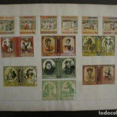 Cajas de Cerillas: CAJAS DE CERILLAS PEGADAS A HOJA-ESPAÑA-ITALIA-GARAY Y ARREGUI-OÑATE-A.DELLACHA-VER FOTOS(CARPB-67). Lote 155671598