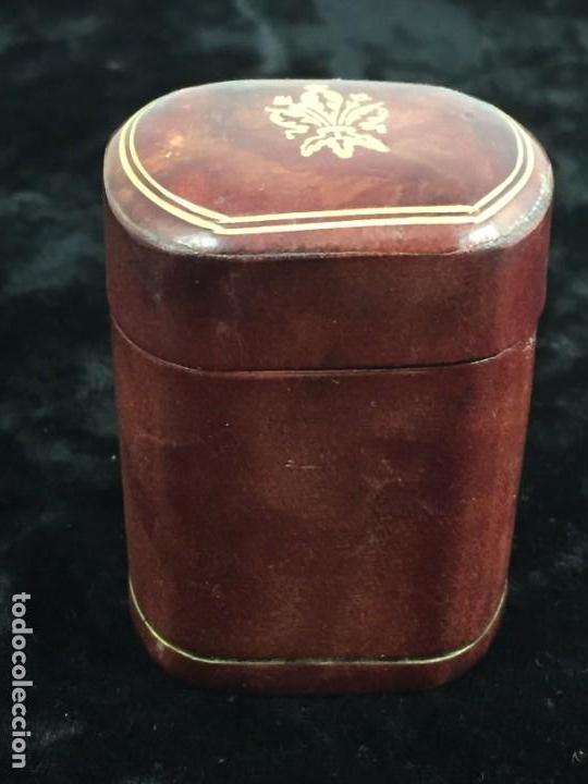 Cajas de Cerillas: Cerillero antiguo de cuero con flor de lis dorada, buen estado - Foto 3 - 155979430