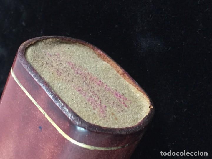 Cajas de Cerillas: Cerillero antiguo de cuero con flor de lis dorada, buen estado - Foto 4 - 155979430