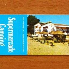 Cajas de Cerillas: SUPERMERCADO CAMPING MASIA BLANCA, CAMBRILS - CARTERÍTA DE CERILLAS - GENERAL FOSFORERA . Lote 156183954