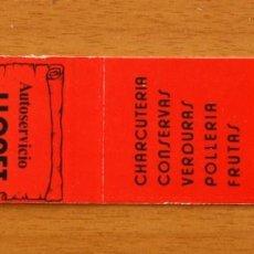 Cajas de Cerillas: AUTOSERVICIO LLORET, C/ LA JOTA, BARCELONA - CARTERÍTA DE CERILLAS - GENERAL FOSFORERA . Lote 156184450