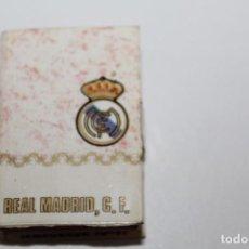 Cajas de Cerillas: ANTIGUA CAJA DE CERILLAS FUTBOL - REAL MADRID TEMPORADA 70/71 VACIA. Lote 156590398