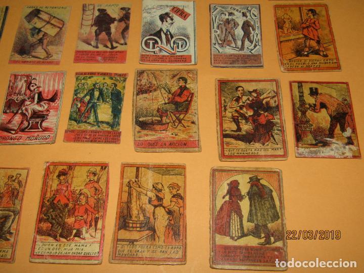 Cajas de Cerillas: Antiguo Lote Cajas de Cerillas Todas Diferentes - Siglo XIX - Año 1890-1910s. - Foto 7 - 156709774