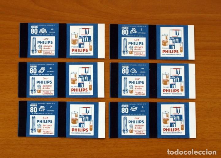 Cajas de Cerillas: Horóscopos Philips - Colección completa, 12 Cajas de cerillas de Portugal-Portuguesas - Foto 4 - 156800470