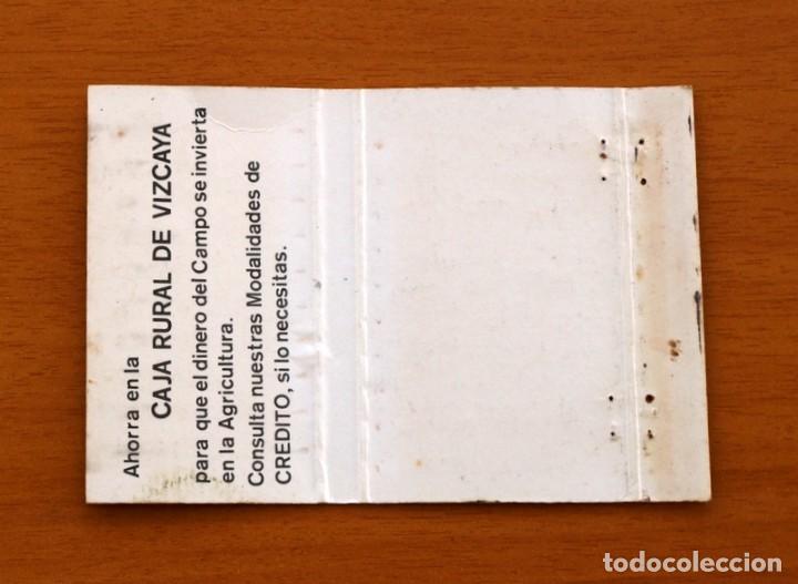 Cajas de Cerillas: Caja Rural de Vizcaya - Carteríta de cerillas - General Fosforeras - Foto 2 - 156817866