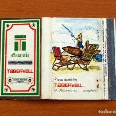 Cajas de Cerillas - Garantía Tabervall, muebles metálicos plegables - Carteríta de cerillas - General Fosforeras - 156818578