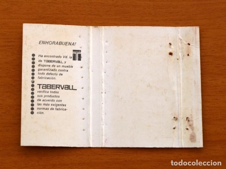 Cajas de Cerillas: Garantía Tabervall, muebles metálicos plegables - Carteríta de cerillas - General Fosforeras - Foto 2 - 156818578