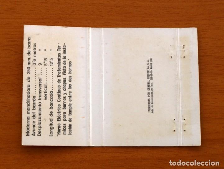 Cajas de Cerillas: Factoría Siderúrgica de Reinosa-Astilleros Españoles-Madrid-Carteríta de cerillas-General Fosforeras - Foto 2 - 156821558